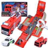 Roca dedo 1:24 DIY deformación fuego del motor Diecast vehículos modelo Deformación de aleación de coche de pista escena juguetes para niños de regalo