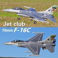 FMS 70mm F16 F-16C Fighting Falcon V2 acondicionado ventilador FED Jet 6 S 6CH con solapas se retrae PNP EPO RC modelo de avión
