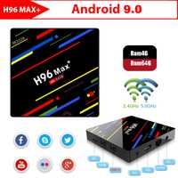 H96 MAX PLUS Smart TV BOX Android 9,0 OS 4 GB RAM/32/64 GB ROM RK3328 Quad Core 1080 p 4 K H.265 WiFi 2,4G/5G BT4.0 Set Top Box