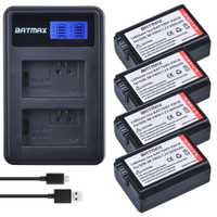 4 pc NP-FW50 NP FW50 FW50 Batterie + LCD Chargeur Double USB pour Sony A6000 5100 a3000 a35 A55 a7s II alpha 55 alpha 7 A72 A7R Nex7 NE