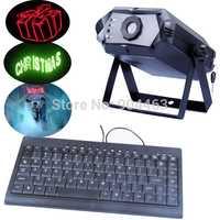 300 mW RGB texto láser etapa de iluminación de vacaciones luz láser proyector de entrada de texto por teclado expresión emocional sin fronteras