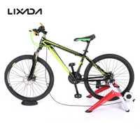 Lixada profesional interior magnético bicicleta entrenador ejercicio soporte 6 niveles de resistencia