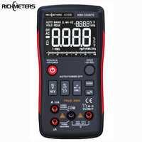 RICHMETERS RM409B multímetro Digital de verdadero botón 9999 cuenta con analógico Bar gráfico AC/tensión DC amperímetro actual ohm