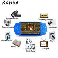 Consola de videojuegos portátil 4,3 pulgadas consolas salida de TV de pantalla soporte con MP3 película Cámara soporte para GBA juegos arcade