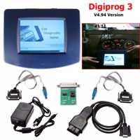 Probador de diagnóstico de fallas de coche 6 piezas unidad principal de Digiprog III Digiprog 3 V4.94 con OBD2 ST01 ST04 Cable Car accesorios