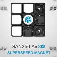 Gan356 aire SM 3x3x3 Speedcube negro cubo mágico GAN aire SM magnético 3x3 x velocidad 3 cubo Gans 356 SM rompecabezas juguetes para los niños