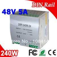 Dr-240-48 solo salida LED DIN Rail fuente de alimentación transformador 240 W DC 48 V 5A salida SMPS