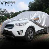 Vtear para Hyundai creta ix25 cubiertas de coche a prueba de polvo protección espesar película de aluminio al aire libre de la cubierta del coche accesorios 2017-2019