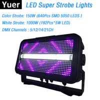 1 unids/lote LED Super luces estroboscópicas 1400 W RGB LED efecto de iluminación de escenario Dj fiesta muestra luces DMX láser proyector luces