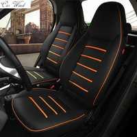 Viento coche pu cuero asiento de coche cubre para mercedes-benz smart fortwo 2010 ~ 2017 smart forfour asiento para los accesorios del coche