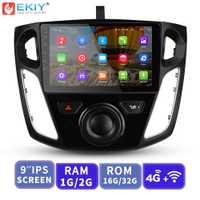 EKIY 9 ''IPS lecteur vidéo multimédia de voiture GPS Navigation Autoradio Android pour Ford Focus 3 2012-2015 unité principale avec Modem 4G