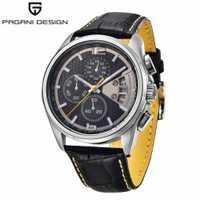 PAGANI superior de los hombres de la marca de relojes del diseño militar relojes de cuarzo de cronógrafo reloj de pulsera de moda Simple reloj masculino 3306