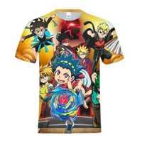 Kai Watch Land Kawaii juego niños 3D impresión camiseta niños niñas Modis de manga corta Tops Tees camisa ropa camiseta Unsex