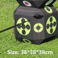 Y 3D Target dados 38cm lados para disparar práctica de caza entrenamiento flecha Target Cube para arco recurvo auto sanación espuma