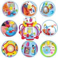 HOLA 806 jouets pour bébés Activité Musicale jouet cube D'apprentissage jeu éducatif Jouet Center avec des Lumières et Sons Jouets pour Enfants