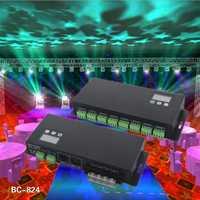 BC-824 24CH DMX512 RGB decodificador 24 canal Controlador LED RGB DMX decodificador de tensión constante 3A * 24CH salida