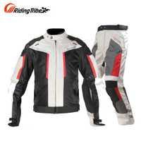 En la chaqueta de la motocicleta Motocross trajes de chaqueta y pantalones de chaqueta de protección de la armadura de la motocicleta de carreras de chaquetas