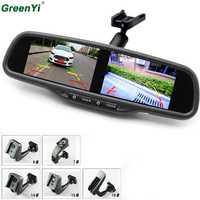 HD 800*480 pantalla Dual Monitor de coche OEM espejo Monitor de 4,3 pulgadas de ajuste de brillo 4AV con soporte especial para hyundai Kia VW