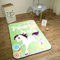 Bebé brillante de alfombras de los niños de franela gruesa juego alfombra 90*140 cm habitación de niño arrastrarse Mat dormitorio felpa corta juego antideslizantes alfombras