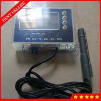 PHT-028 Pantalla de doble nivel 6 en 1 medidor Digital de PH TDS Temp EC CF MV Tester con equipo de monitoreo del analizador de calidad del agua