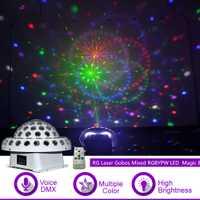 Sharelife láser RG Gobos mezcla RGBYPW de cristal LED gran magia bola DJ fiesta casa mostrar trabajo DMX control remoto etapa iluminación X-MB