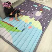 Infantile brillant 140X195 CM bébé jouer tapis 2.5 CM épaississement bande dessinée couverture enfants jeu tapis Machine lavable tapis