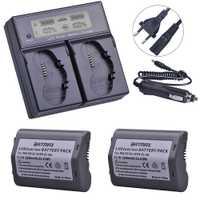 2 pièces 3200 mAh EN-EL18, EN-EL18a, EN EL18, ENEL18a batterie + LCD double chargeur rapide intelligent pour Nikon D4, D4S, D5 appareil photo reflex numérique