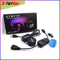 ShinMan Super Cool coche USB reposabrazos caja Starlight luz interior lámpara de Proyector láser de atmósfera luz para coche