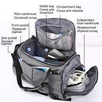 Bolsa de gimnasio de 15 pulgadas multifunción para hombre, bolsas de Fitness para mujer, mochilas para ordenador portátil, bolsa de almacenamiento de viaje con zapatos, bolsas deportivas de Yoga de bolsillo