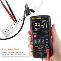 Q1 Auto multímetro Digital 9999 cuenta True RMS AC DC tensión corriente amperímetro Ohm corriente Transistor Tester ohm potencia metros