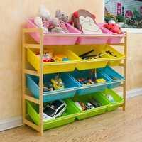 Niños juguete almacenamiento categorías kindergarten juguete de madera maciza caja de almacenamiento