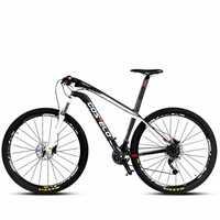 Fibra de carbono bicicleta de montaña MTB bicicleta de montaña super ligero fibra de carbono velocidad macho 27/30 velocidad freno aceite 26/29 pulgadas