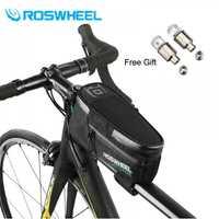 ROSWHEEL 2018 nuevo 1.5L bicicleta marco Front Head Top tubo 100% impermeable bicicleta bolsa de ciclismo para el teléfono Accesorios