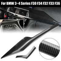 2 pièces En Fiber De Carbone Style Center Panneau De Commande Pour BMW F30 F34 F32 F33 F36