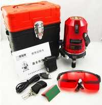 Envío de la venta caliente 5 líneas 3 puntos láser de línea de la Cruz, nivel láser, profesional láser rotativo nivel láser de línea EK-452DP
