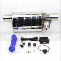 Soupape de voiture tuyau d'échappement pompe à vide silencieux variables acier inoxydable universel 51mm 63mm 76mm gaufrage télécommande silencieux