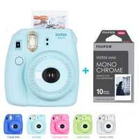 Fujifilm Instax Mini 9 Cámara 5 colores + 10 disparos Fuji Mini 9 película instantánea monocromo papel fotográfico envío libre