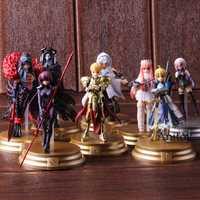 El destino de la Gran Orden FGO Saber Scathach Mash Kyrielight MEBD Merlín Gilgamesh figura de acción de PVC juguete de modelos coleccionables 8 unids/set
