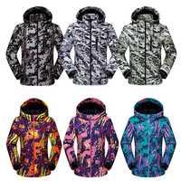 Nueva llegada térmica de invierno chaqueta de esquí de las mujeres de los hombres trajes de esquí para escalada al aire libre senderismo caza chaqueta de esquí homme