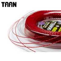 TAAN 1,20mm 1 carrete giro de potencia cuerda de raqueta de tenis poliéster negro cuerda de entrenamiento de tenis 200m