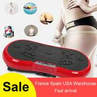 Versión mejorada de ultra-delgada de masaje de vibración placa máquina de la pérdida de peso y quemar la grasa de la casa gimnasio ejercicio equipo HWC