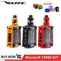 Original Veeape warwolf kit 150 w e-cigarrillo láser vape caja mod instantánea 0.025 segundo gran salida incorporada de 3500 mAh batería de la batería vape