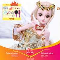 UCanaan 1/3 poupée bjd 60 CM/23.6 ''hauteur 19 Balle Articulé Poupées (Perruque + Chaussures + Vêtements + cheveux + Yeux + Maquillage) jouets Collection