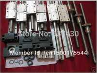 6 conjuntos SBR16-300/900/1100mm guías lineales 3 sets 1605 tornillos de bola + 3 sets BKBF12 + 3 unids 6.35x10mm acoplador