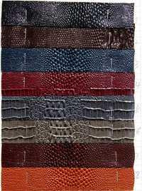 Faux DIY pu material de tela sintética, cocodrilo impreso pu deri, cuero sintético tela para muebles, 1210027