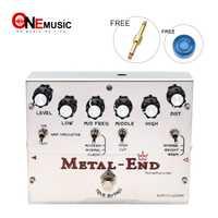 Biyang Tonefancier Metal extremo rey distorsión eléctrica guitarra Pedal efecto verdadero derivación diseño con oro Pedal conector