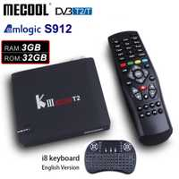 MECOOL matar PRO DVB-T2 Android 7,1 caja de TV 3 GB 32 GB ROM Amlogic S912 Octa Core 2,4G/ 5G WiFi 4 K Media Player Smart Android TV Box