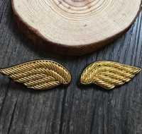 Plumas ala broche de remiendo bordado seda India Alambres bordado a mano insignia Telas Patch moda ropa DIY Craft supply