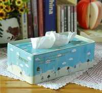 Zakka comestibles Mori pequeña caja de hierro fresco caja de papel toalla de humo lata