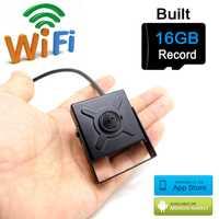 Cámara ip wifi P 720 p mini tarjeta micro sd inalámbrica 16G hogar Cámara más pequeña hd cctv seguridad vigilancia p2p wi fi camara JIENU